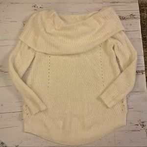 Anthropologie Sweaters - Anthropologie moth open knit Cowl neck sweater S